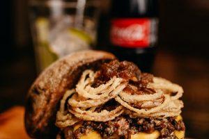 Classic BBQ Rib Sandwich w/ Sweet Potato Fries